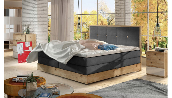 Łóżko Dębowe Elli 140x200